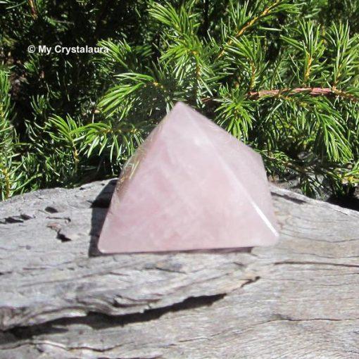 Rose Quartz. Pyramid